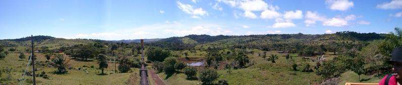 Vista panorâmica da fazenda onde se encontra a PCH Hidroluz