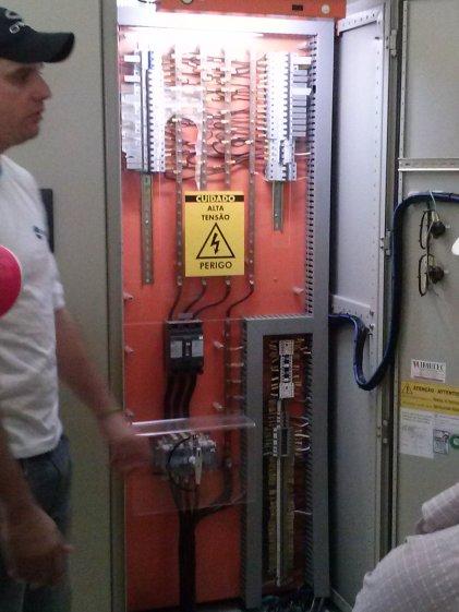 Painel de controle das maquinas